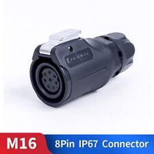 M16 250V AC DC Audio Jack Industrial Solar Panel Mount Ethernet Connector 8 Pin
