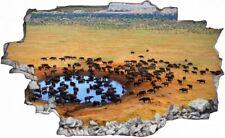 Goruma Herde Savanne Afrika Wandtattoo Wandsticker Wandaufkleber C0694