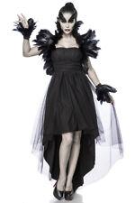 Krähenkostüm Crow Witch Holloween Komplett Kostüm Krähe Fasching XS-2XL