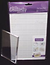 Acrylic Clear Blocks 5-1/2 x 3-1/2 or A5 docrafts Creativity Essentials You Pick