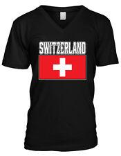 Switzerland Flag Swiss Pride Schweiz Suisse Svizzera Svizra Mens V-neck T-shirt