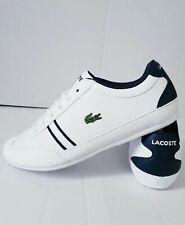 LACOSTE Women's Boys Girls Trainers White Size UK 3 - 5.5 B Grade Brand New