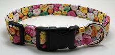 Valentine Conversation Hearts Dog Collar Adjustable Handmade Custom Designer