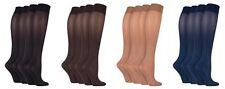 IOMI 2 Pack Womens Anti Fatigue Graduated Compression Knee High Energizing Socks
