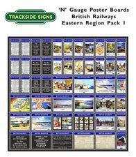 British Railways Eastern Region Model Railway Advertising Posters N Gauge