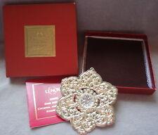 2005 Lenox Sterling Crystal 2nd Annual Christmas Snowflake Ornament Medallion
