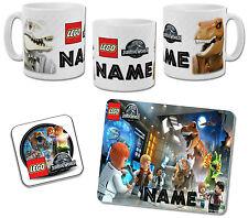 Personalised Lego Jurassic World Mug with Coaster & Placemat Options
