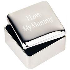 Silver JEWELLERY TRINKET BOX GIFT I love My Mummy