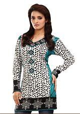 UK STOCK - Women Fashion Indian Short Kurti Tunic Kurta Shirt Dress EXE03B