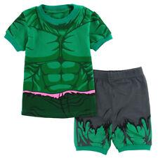 Kids Boys Hulk Costume Pajamas Children Superhero Sleepwear Summer 2Pcs Outfits