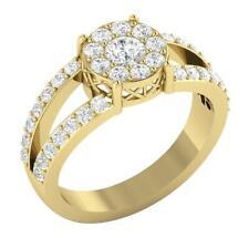 Solitaire Wedding Ring 1.15Ct SI1 G Natural Round Diamond 14K White Yellow Gold