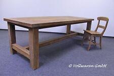 TEAK ESSTISCH  SE6  Teakholz antik massiv in 3 Größen Tisch Tafel Konferenztisch