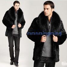 Fashion Men Warm Fur Coat Parka Outwear Jacket Winter Gothic Lapel Coat Plus sz
