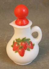 Vintage Avon Milk Glass and Strawberries Small Pitcher
