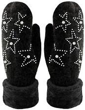 fe98694fb509a5 Handschuhe Fäustlinge mit Perlen und Stern Glitzer Strick Handschuhe  gefüttert