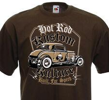 T-shirt HOT ROD - Kustom Kulture Built For Speed -  V8 Ford T Custom Racer Drag