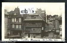 29 BRETAGNE. FINISTERE.MORLAIX .. PHOTO ORIGINALE .. 1934 .. VIEILLES MAISONS ..