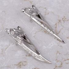 Gentlemen Sword Tie Clips Fashion Tie Bar Copper Metal Clasp Clamp Jewelry Gift