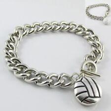Noosa Style Netball Chunk Button Chain Bracelet 22cm Select Enamel or Metal