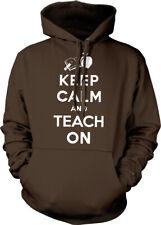 Keep Calm and Teach On Teachers Students Apple Book Pencil Hoodie Pullover