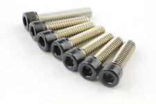 1/4x20 Zoll UNC Zylinderkopf Schraube Edelstahl A2 V2A schwarz Inch black