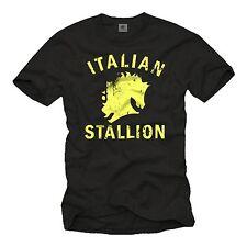 VINTAGE Italian Stallion t-shirt Rocky Retrò Culto IDEA REGALO Cool Uomo S-XXL