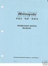 Vintage BMW Motorcycle R51/3, R67, R67/2 Shop Manual
