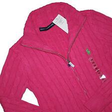 Ralph Lauren Cara Damen Zopfmuster Pullover Sweatjacke Strickjacke