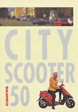 Cagiva City Scooter 50 Prospekt 1993 brochure Motorradprospekt Motorroller moto
