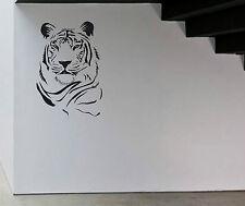 TIGER FACCIA ANIMALE GATTO SELVATICO Adesivo in Vinile Decalcomania Wall Art