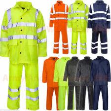 Uomo Donna Impermeabile RainSuit Rain Suit Set GIACCA PANTALONE Puddle Work Wear