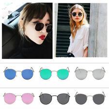 Unisex Men Women Oval Clear lens Glasses & Sunglasses Travel Slim Metal Frame