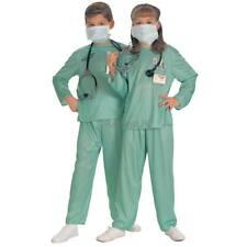 Kids Scrubs Doctor Fancy Dress Costume Girls Boys Surgeon ER Nurse Outfit Rubies
