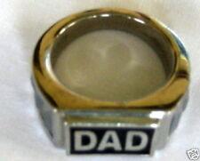 Tungsten & Stainless Steel & Hematite Solid Dad Ring