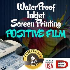 WATERPROOF Inkjet Transparency Film for Screen Printing