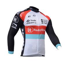 Team Cycling Long Sleeve Jersey Men's Biking Tops Clothing Maillots Shirt Pocket