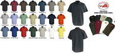 NEW Mens Short Sleeve DARK Colors Uniform WORK SHIRT Red Kap SP24 Dickies 2ND #2
