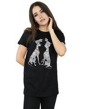 Disney mujer 101 Dalmatians Classic Pongo and Perdita Camiseta Del Novio Fit