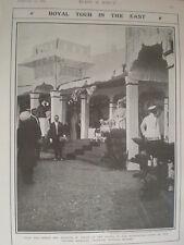 Printed photo Prince Wales Victoria Memorial Technical School Madras India 1906
