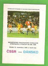 Orig.PRG   EM Qualif.  12.11.1986   CSSR - DÄNEMARK  !!