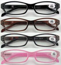 L30 Super Fashion Plastic Reading Glasses/12pcs Diamante/Spring Hinges/Good Deal