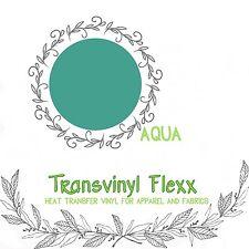"Heat Transfer Vinyl High Stretch Cutting 10"" - Aqua"