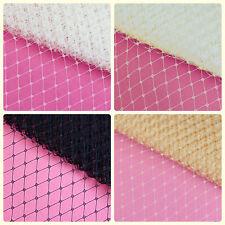 "1 yard 9"" Birdcage Veiling Fabric French Russian Netting Fascinator U pick color"