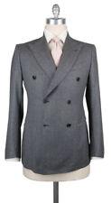 New $3300 Luigi Borrelli Gray Wool Solid Suit - (LBC135731R7)