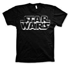 T-shirt HOMME NOIR STAR WARS LOGO Taille S M L dark vador skywalker bb8 r2d2