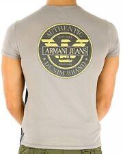 NEW ARMANI JEANS 2015 COLLECTION BLACK GREY PURE COTTON REGULAR T-SHIRT L XL XXL