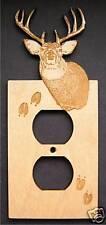Laser Engraved Deer Electrical Outlet Plate Cover
