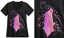 ALICE IN WONDERLAND  V-NECK T-SHIRT FOR WOMEN ~DISNEY STORE~ FREE SHIP