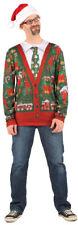 Ugly Christmas Sweater Cardigan Holiday Festive Adult Size Men Women Shirt