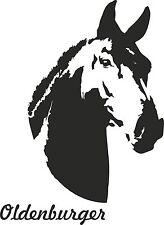 Auto Aufkleber Pferd OLDENBURGER auch für Pferdeanhänger. Versch. Farben u. Gr.